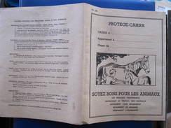 PROTEGE CAHIER - SOYEZ BONS POUR LES ANIMAUX - CHEVAL - POULAIN - Animaux