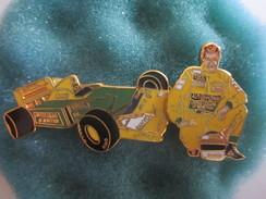 Pin's Pins Sport Formule 1 Lotus Schumacher Benetton Mobil Camel Sanyo - Car Racing - F1