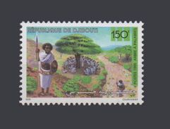DJIBOUTI WOMAN ARBRE A PALABRES  ARBRES TREE TREES 1995 Yvert YT 719D MICHEL Mi 615 MNH ** RARE - Djibouti (1977-...)