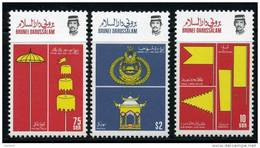BRUNEI 1986 Flags Cpl Set  Of 3 Stamps Cat. Yvert N° 353/55 Absolutely Perfect MNH ** - Brunei (1984-...)