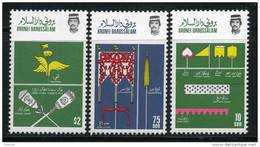 BRUNEI 1986 Flags Cpl Set  Of 3 Stamps Cat. Yvert N° 356/58 Absolutely Perfect MNH ** - Brunei (1984-...)