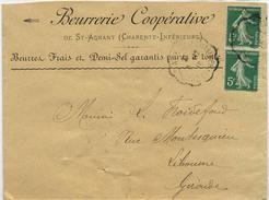 CONVOYEUR LE CHAPUS ROCHEFORT S/ MER EN TETE BEURRERIE ST AGNANT CHARENTE INFERIEURE - Railway Post