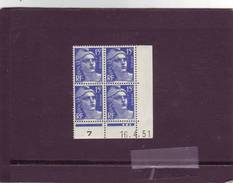 N° 876 - 15F Marianne De GANDON - C De C+D - Tirage Du 14.4.51 Au 11.5.51 - 16.04.1951 - - 1950-1959