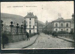 CPA - OBERSTEIN - Rue De La Gare, Animé - Otros Municipios