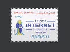 DJIBOUTI  MICHEL 14 TH AFRICAN SMUMMIT INTERNET AFRICA  14ème Sommet Africain Mi. 819 2014 MNH ** RARE - Telecom