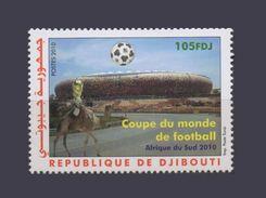 DJIBOUTI SOCCER WORLD CUP COUPE MONDE FOOTBALL SOUTH AFRICA AFRIQUE DU SUD CAMEL CHAMEAU DROMADAIRE 2010 MNH ** RARE - Djibouti (1977-...)