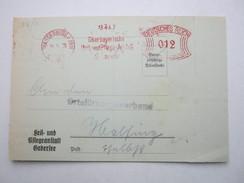 Firmen Freistempel , Meterstempel Auf Beleg Aus  WASSERBURG  1936 ,  Stempel Ist Auf Einer Zahlkarte - Deutschland