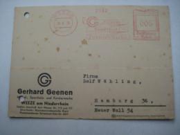 Firmen Freistempel , Meterstempel Auf Beleg Aus  WEEZE 1938 - Deutschland