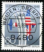 Berlin - Mi 842 - Zentrisch OO Gestempelt (A) - 60Pf  40 Jahre Blockadeende Berlins - Berlin (West)