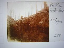 Plaque Photo Stereo Stereoscopique Ww1 1914-18 Militaire Champagne Marne Perthes Les Hurlus 1ere Ligne - Guerre, Militaire