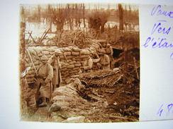 Plaque Photo Stereo Stereoscopique Ww1 1914-18 Militaire Vaux Vers L'etang 484 - Guerra, Militares