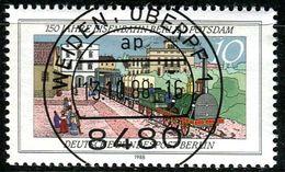 Berlin - Mi 822 - Zentrisch OO Gestempelt (A) - 10Pf  150 Jahre Eisenbahn Berlin-Potsdam - Berlin (West)