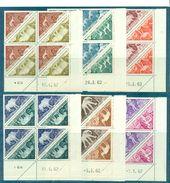 TCHAD.TAXE N°23 / 34 BLOCS DE 4 DATES N Xx TB. Cote 55 €.(animaux Dont éléphants) - Tchad (1960-...)