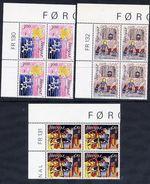 FAROE IS. 1986 Amnesty International In Corner Blocks Of 4 MNH / **.  Michel 136-38 - Faroe Islands