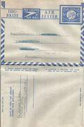 South Africa 1949 Johannesburg Globe 6d Type 11 Afrikaans-English Sehler 2007 Catalogue Aerogramme - Posta Aerea