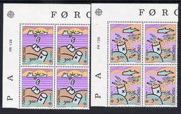 FAROE IS. 1986 Europa: Environment Protection In Corner Blocks Of 4 MNH / **.  Michel 134-35 - Faroe Islands