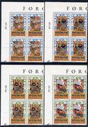 FAROE IS. 1986 Skirmsla Ballads In Corner Blocks Of 4 MNH / **.  Michel 130-33 - Faroe Islands