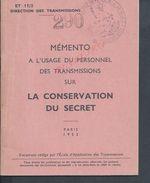 MILITARIA LIVRET ILLUSTRÉE DE 37 PAGES DE LA GARDE RÉPUBLICAINE DE PARIS TAMPON DU SERVICE DES TRANSMISSIONS 1952 : - Militaria