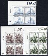FAROE IS. 1984 Sea Fishing In Corner Blocks Of 4 MNH / **.  Michel 103-05 - Faroe Islands