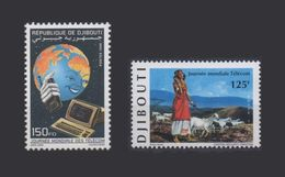 DJIBOUTI TELECOM JOURNEE MONDIALE TELECOMMUNICATIONS DAY Michel Mi 668 1998 + Mi 674 1999 MNH ** RARE - Djibouti (1977-...)