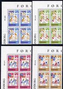 FAROE IS. 1982 Medieval Ballads I In Corner Blocks Of 4 MNH / **.  Michel 75-78 - Faroe Islands