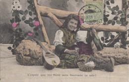 Luxembourg - Diekirch - Fantaisie - Fillette Musique - Vin - Postmarked 1910 - Diekirch