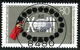 Berlin - Mi 843 - Zentrisch OO Gestempelt (A) - 80Pf  Rechnungkontrollbehörden - Berlin (West)