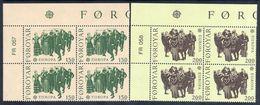 FAROE IS. 1981 Europa: Folklore In Corner Blocks Of 4 MNH / **.  Michel 63-64 - Faroe Islands