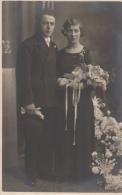 Photographie - Carte-Photo - Mariage Couple Famille Damry - Photographe Groeff Bressoux Liège Belgique - 1934 - Photographie