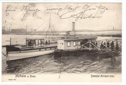 MÜLHEIM A. Rhein - Dampfer-Anlegebrücke - ED. A. Schaar, Köln - Muelheim A. D. Ruhr