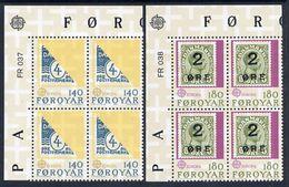 FAROE IS. 1979 Europa: PTT History In Corner Blocks Of 4 MNH / **.  Michel 43-44 - Faroe Islands