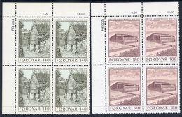 FAROE IS. 1978 National Library In Corner Blocks Of 4 MNH / **.  Michel 39-40 - Faroe Islands
