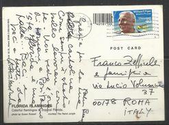 USA FLORIDA 1992 AL REGISTA FRANCO ZEFFIRELLI VIA VOLUMNIO 37 ROMA (VILLA GRANDE) DA RAIMONDO (VIANELLO) CARTOLINA CARD - Artisti