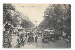 PARIS  (cpa 75)  Boulevard Montmartre - Vieilles Voitures -   - L 1 - Transport Urbain En Surface