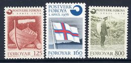 FAROE IS. 1976 Foundation Of Postal Administration  MNH / **.  Michel 21-23 - Färöer Inseln