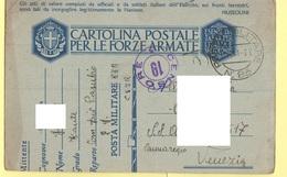 PM Franchigia Da Divisione Pasubio X Venezia 1941 - 1900-44 Vittorio Emanuele III