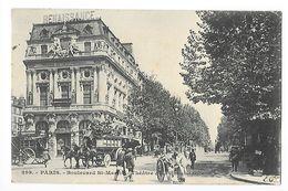 PARIS  (cpa 75)  Le Boulevard St-Martin Et Le Théâtre De La Renaissance -   - L 1 - Transport Urbain En Surface