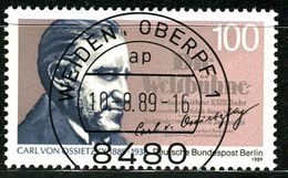 Berlin - Michel 851 - Zentrisch OO Gestempelt (B) - 100Pf  Carl Von Ossietzky - Berlin (West)