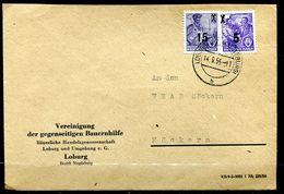 "DDR,GDR 1955 Firmen Bedarfsbrief/Cover Mit Mi.Nr435/438 (overprint) Und Tstp""Loburg,Bz.Magdeburg"" 1 Beleg - Covers"