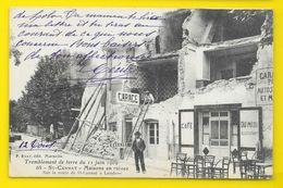SAINT CANNAT Garage Café En Ruines Route De Lambesc Tremblement De Terre 1909 (Ruat) Bouches Du Rhône (13) - France