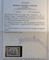 "Deutsche Post In China Mi. VII I 1901 RRR ! ""COMMA ON I OF OVPT"" Fotoattest BPP (Chine German Offices Deutsche Kolonien - Unused Stamps"