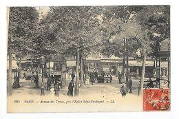 PARIS  (cpa 75)  Avenue De Ternes, Près L'église Saint-Ferdinand -   - L 1 - Arrondissement: 17