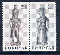 FAROE IS. 1983 Chess Pieces MNH / **.  Michel 82-83 - Faroe Islands