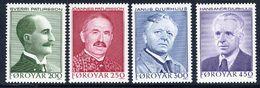 FAROE IS. 1984 Writers I MNH / **.  Michel 99-102 - Faroe Islands