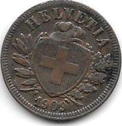 *switserland 2 Rappen  1909 Km 4.2  Xf !! - Suisse