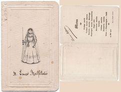Menu - Melle L. Malfilatre - 15 Mai 1910  (100276) - Menus