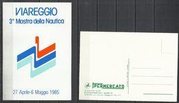 ITALIA ITALY VIAREGGIO 3° MOSTRA DELLA NAUTICA 1985 CARTOLINA POST CARD NUOVA UNUSED - Fiere