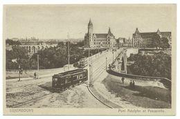 Luxembourg Pont Adolphe Et Passerelle Mit Strassenbahn Um 1925 - Luxemburg - Stadt
