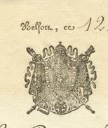 "Belfort Haut-Rhin  1813 Héraldique""Fabrique De L'Église"" - Manuscritos"