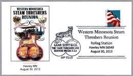Western Minnesota Steam Threshers Reunion - TIGRE - TIGER - Reunion De Tractores. Hawley MN 2013 - Agricultura